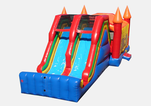 Jumbo Double Lane Jump & Slide